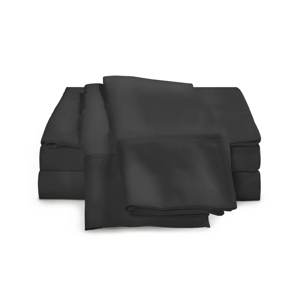 1500 Thread Count Egyptian Cotton Sheet Set Cal King Black
