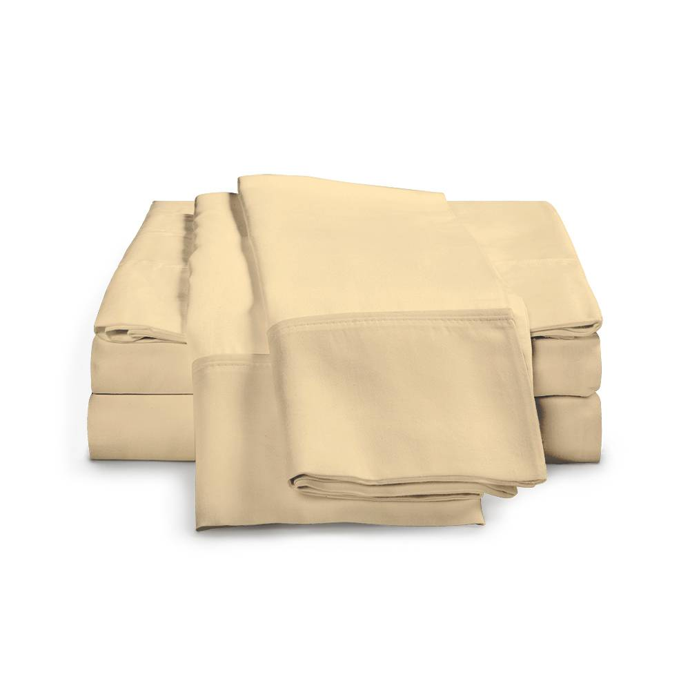 1500 Thread Count Egyptian Cotton Sheet Set Cal King Gold