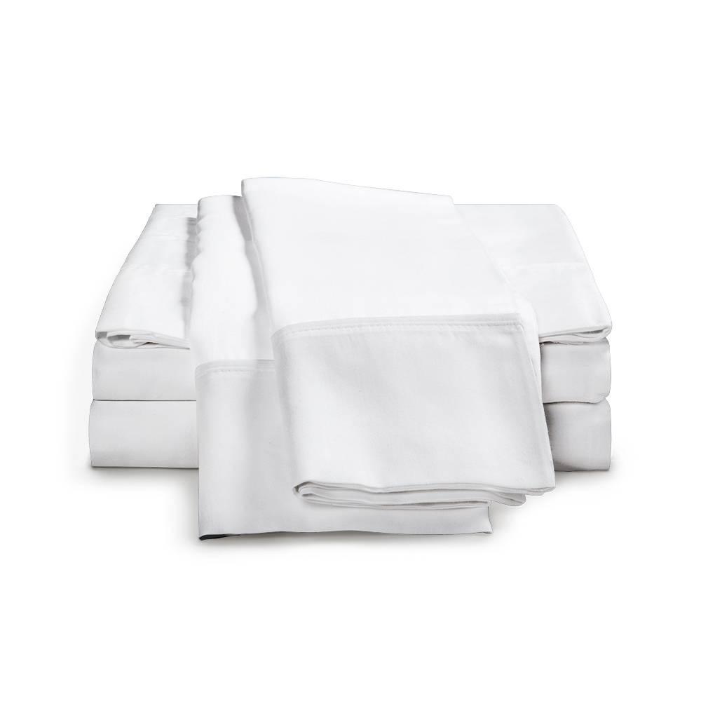 1500 Thread Count Egyptian Cotton Sheet Set Cal King White
