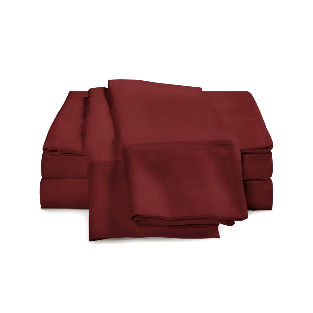 300 Thread Count Cotton Sheet Set Cal King Burgundy