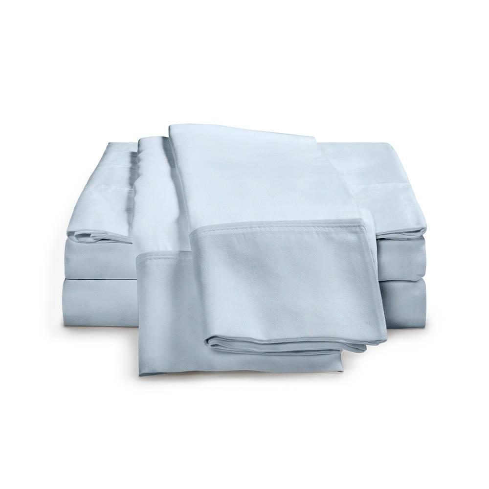 530 Thread Count Cotton Sheet Set Cal King Light Blue