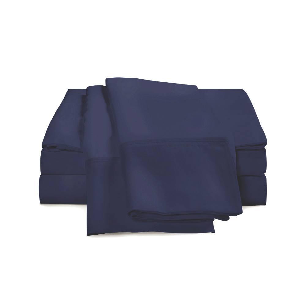 300 Thread Count Cotton Sheet Set Cal King Navy Blue