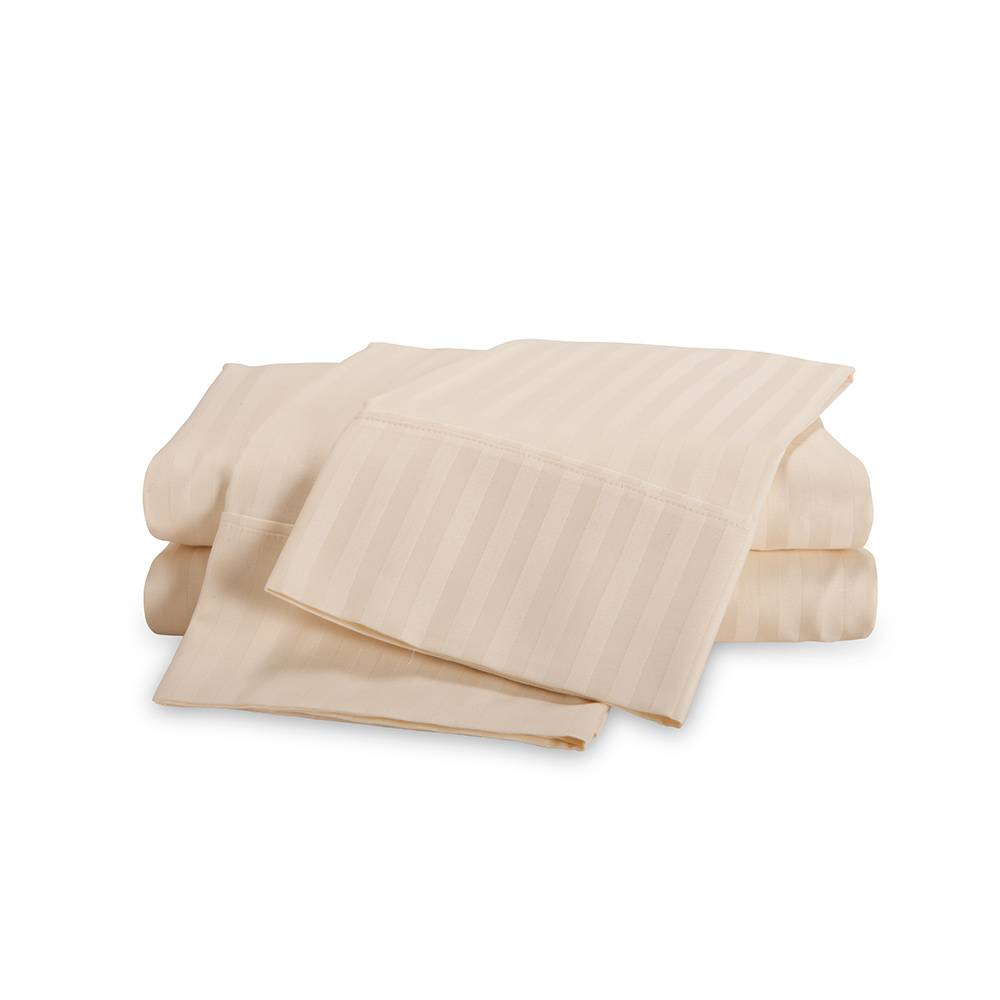 650 Thread Count Egyptian Cotton Striped Sheet Set King Ivory