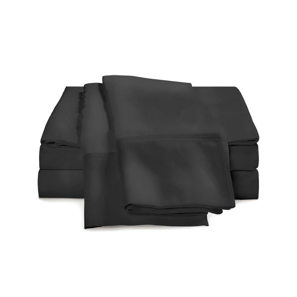530 Thread Count Cotton Sheet Set Cal King Black