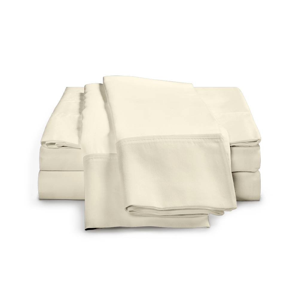 530 Thread Count Cotton Sheet Set Cal King Ivory