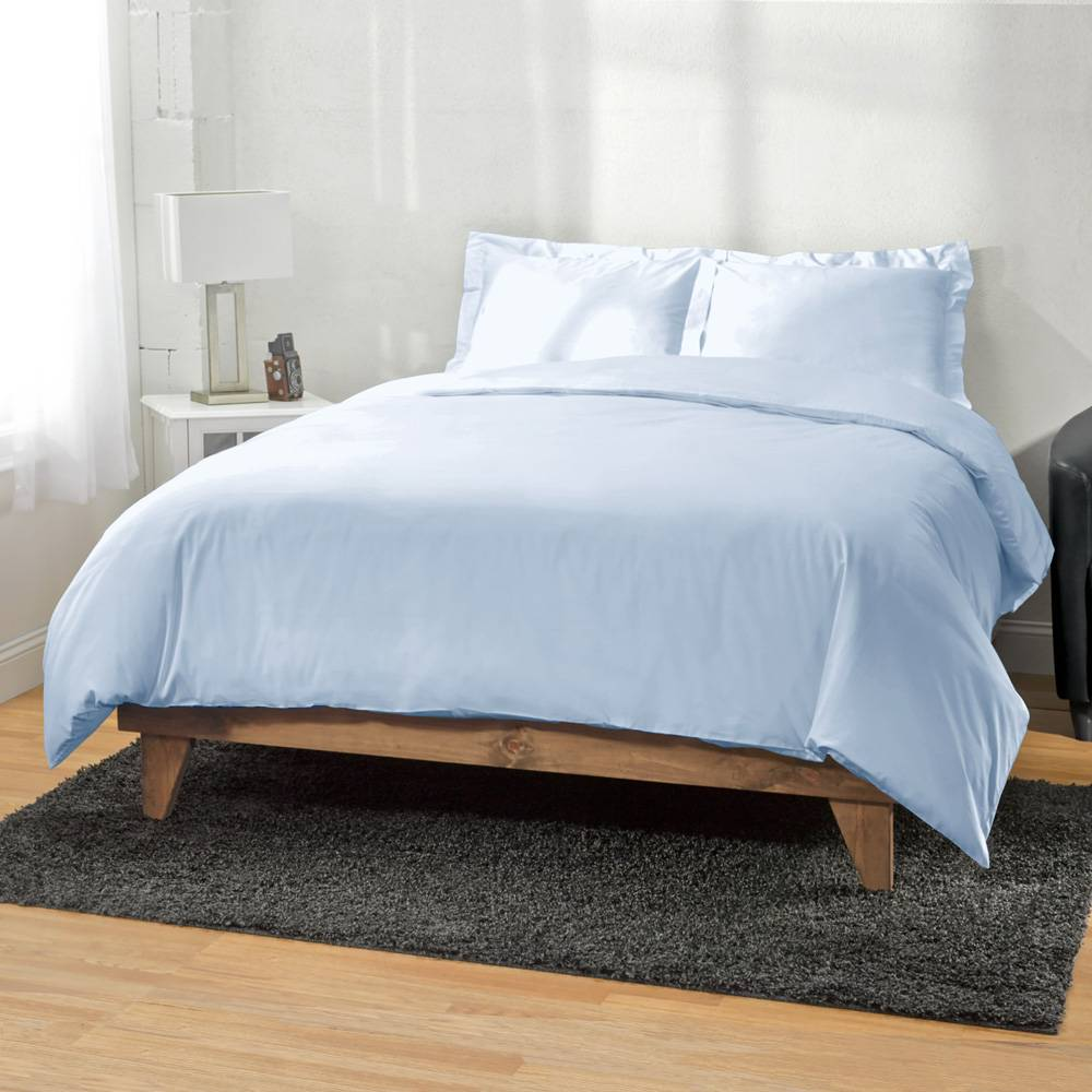 Ultra Soft Rayon from Bamboo Duvet Cover Full/Queen Blue