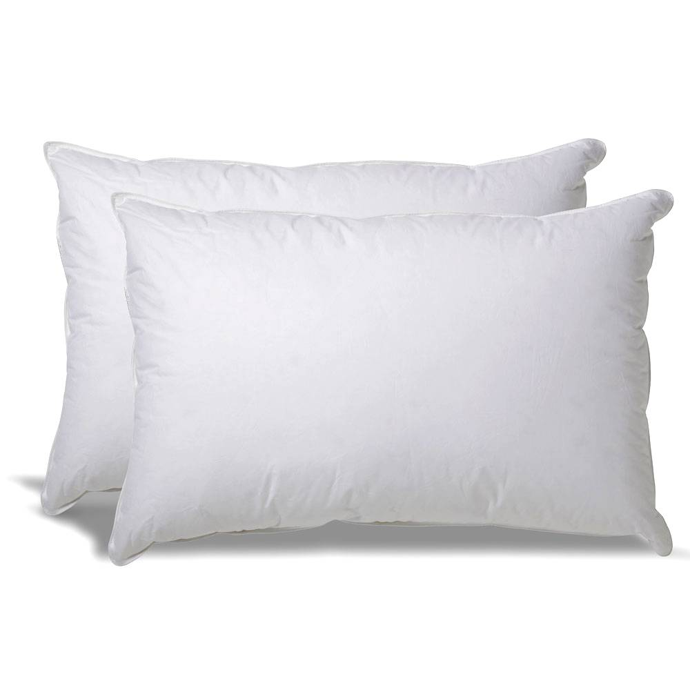 Down Alternative Hypoallergenic Pillow for Side/Back Sleepers with Revoloft® Fill King - 2 Pack White