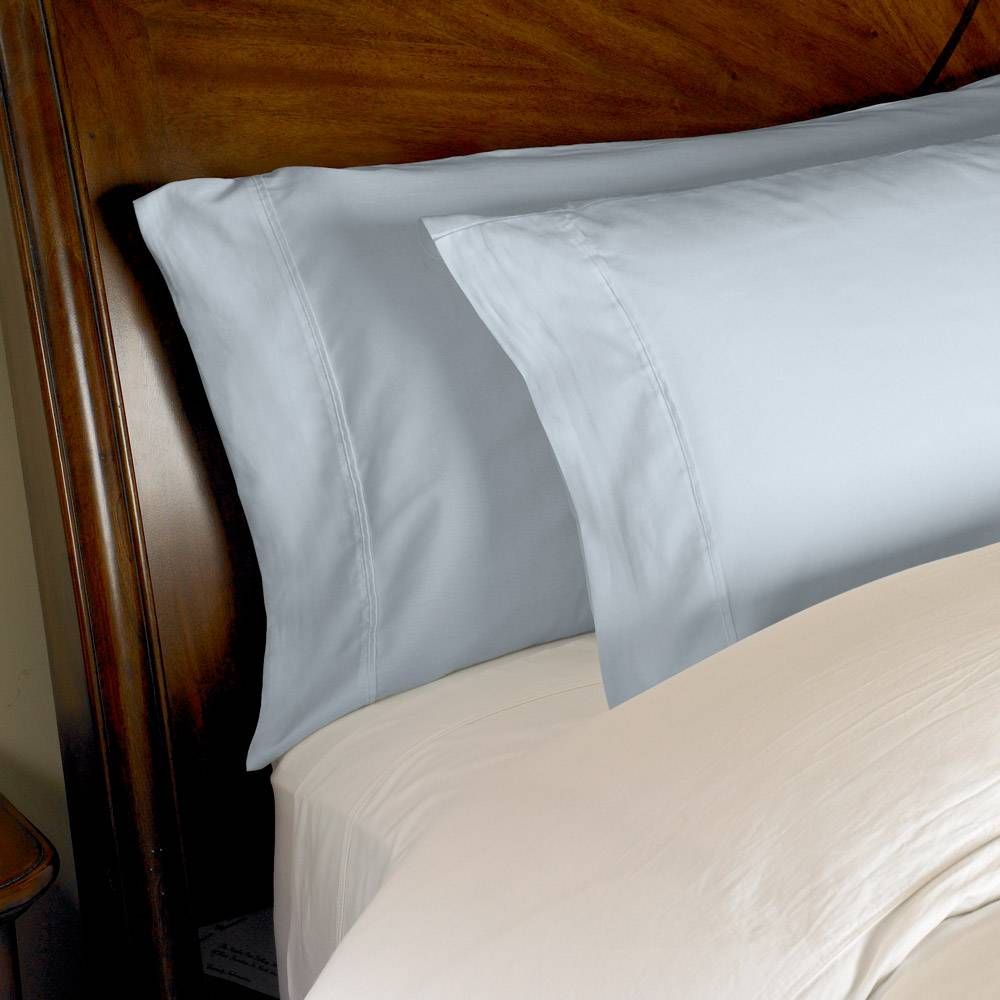 1000 Thread Count 2pc PillowCase Set Cotton by eLuxury King Solid Light Blue