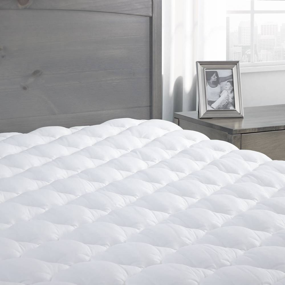 Pressure Relief Mattress Pad with Fitted Skirt - Made in the USA King White