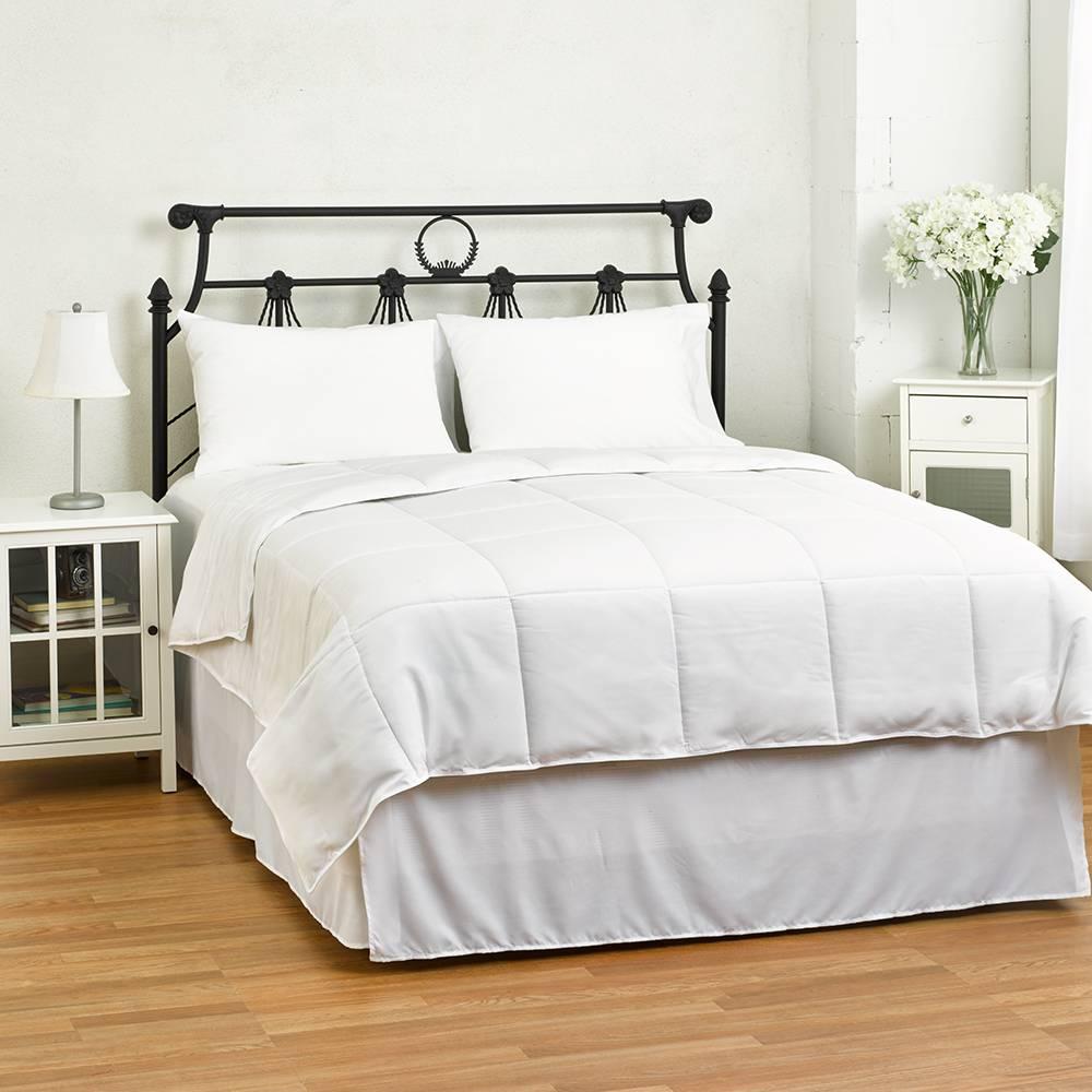 Twin/Twin XL Dorm Lightweight Down Alternative Comforter Duvet Insert - Ideal for Summer White