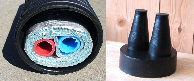 """1"""" 100' Insulated Outdoor Furnace Non Barrier 3 Wrap PEX Pip"""
