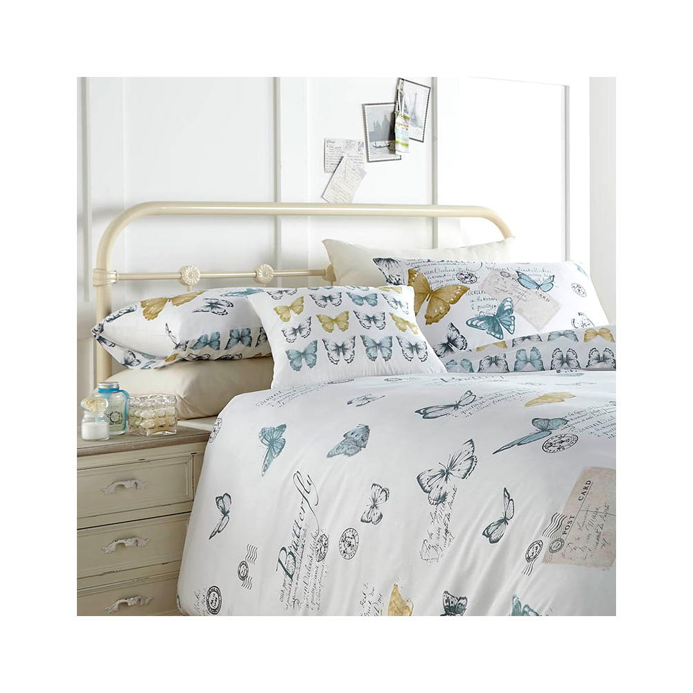 Elegant Butterfly & French Script Bedding - Vintage Chic ...