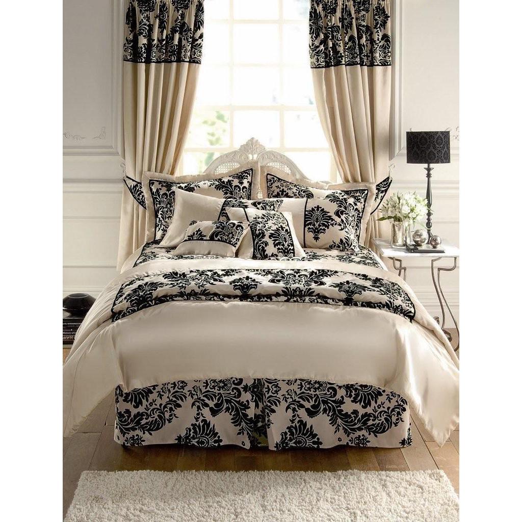 Royal Velvet Duvet Cover In Victorian Damask Faux Silk
