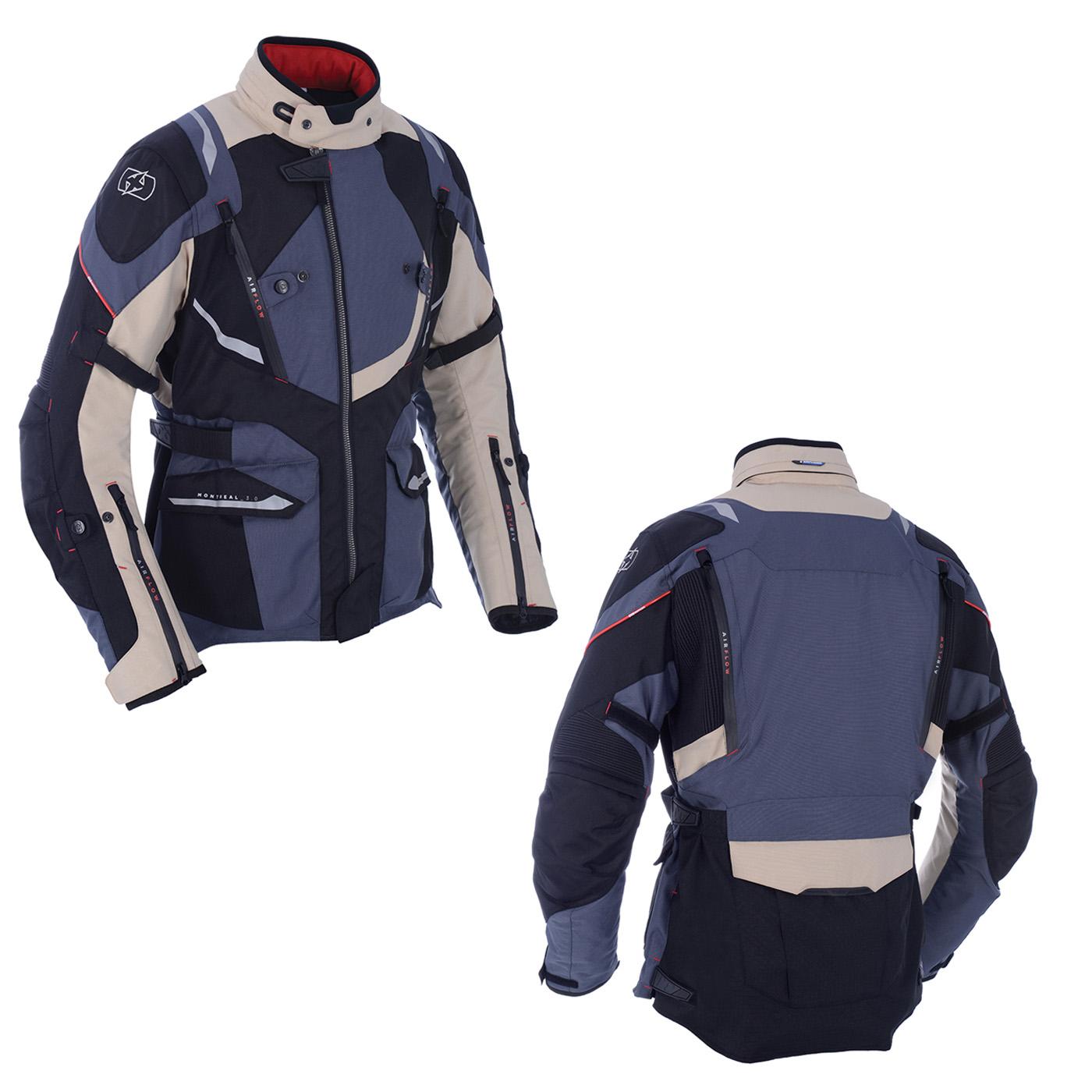 Desert Oxford Motorcycle Motorbike Waterproof Montreal 3.0 Textile Jacket
