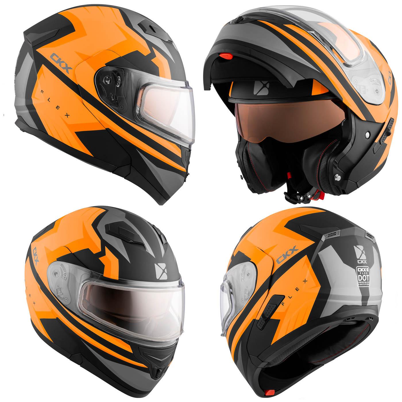 ckx rsv flex modular fighter mat orange snowmobile helmet flip motorhead specialist zone