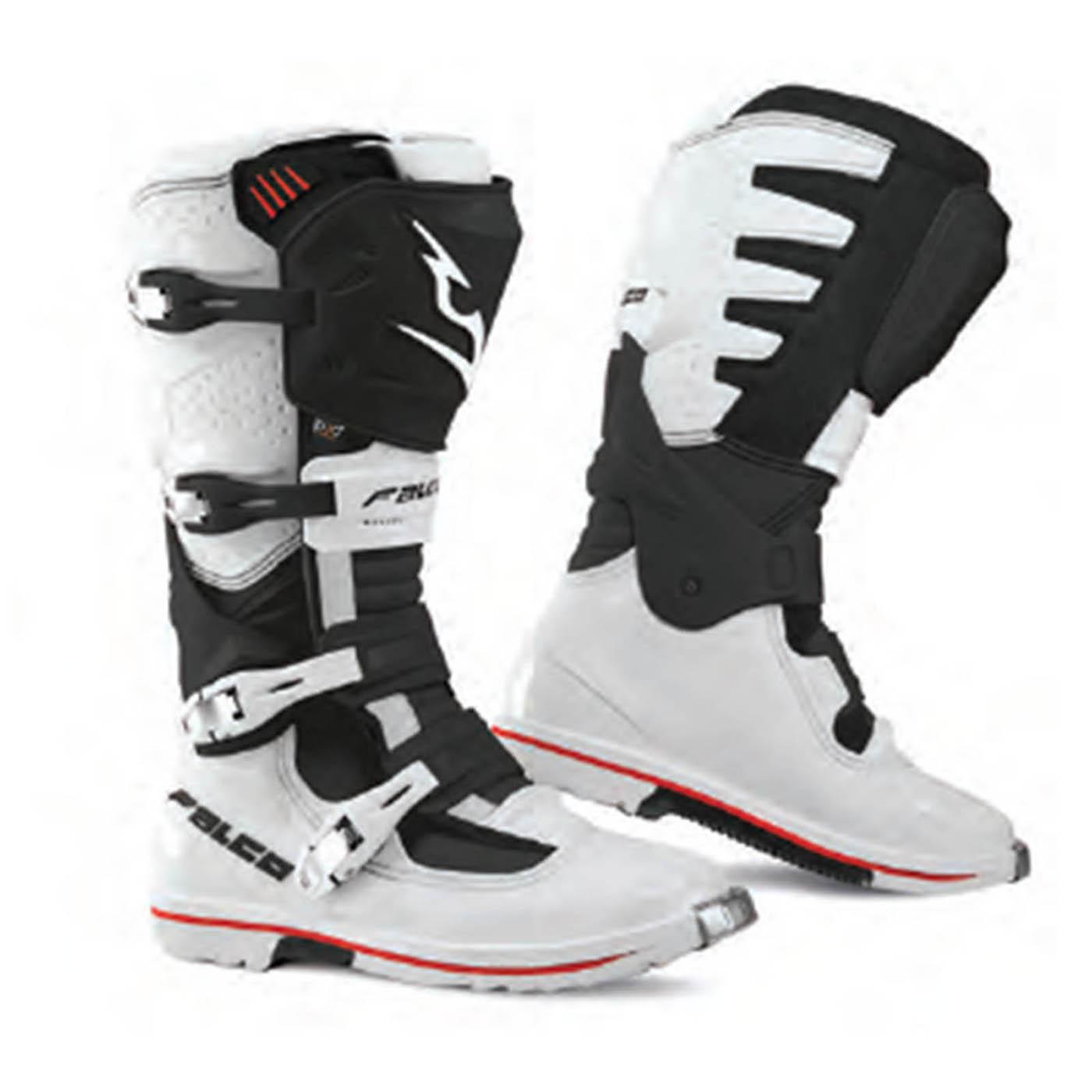 Details about Falco Extreme Pro 3.1 Boots Black White 10 44 Men Off Road Enduro MX Motorcross