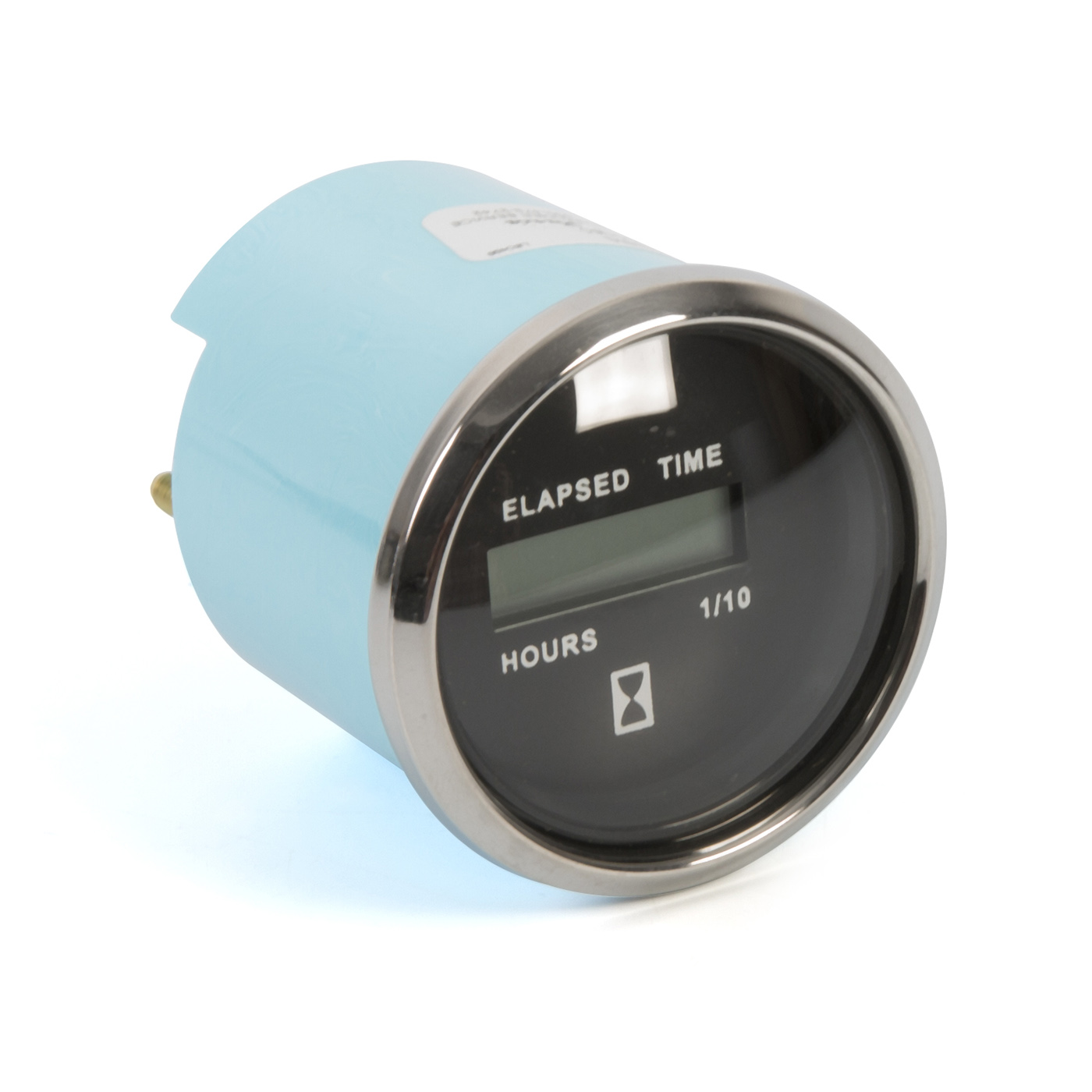12-32 VDC - 2 Faria 13815 Chesapeake Stainless Steel Digital Hourmeter White