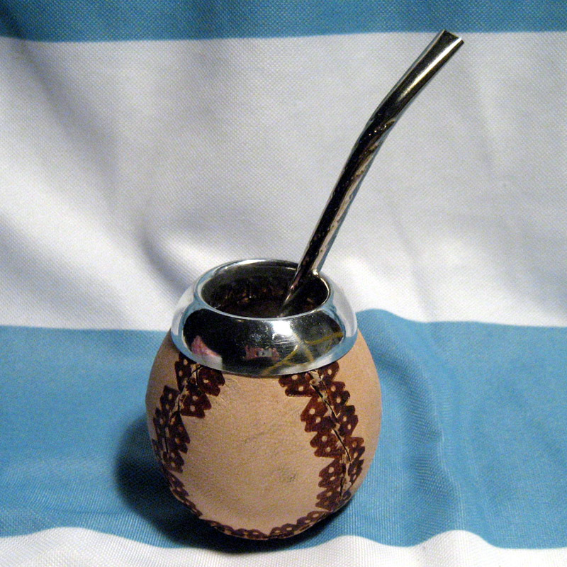 ARGENTINA MATE GOURD YERBA TEA WITH STRAW BOMBILLA 0164   eBay  ARGENTINA MATE ...