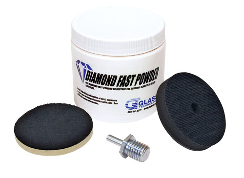 glass polishing kit pro scratch removal repair ebay. Black Bedroom Furniture Sets. Home Design Ideas