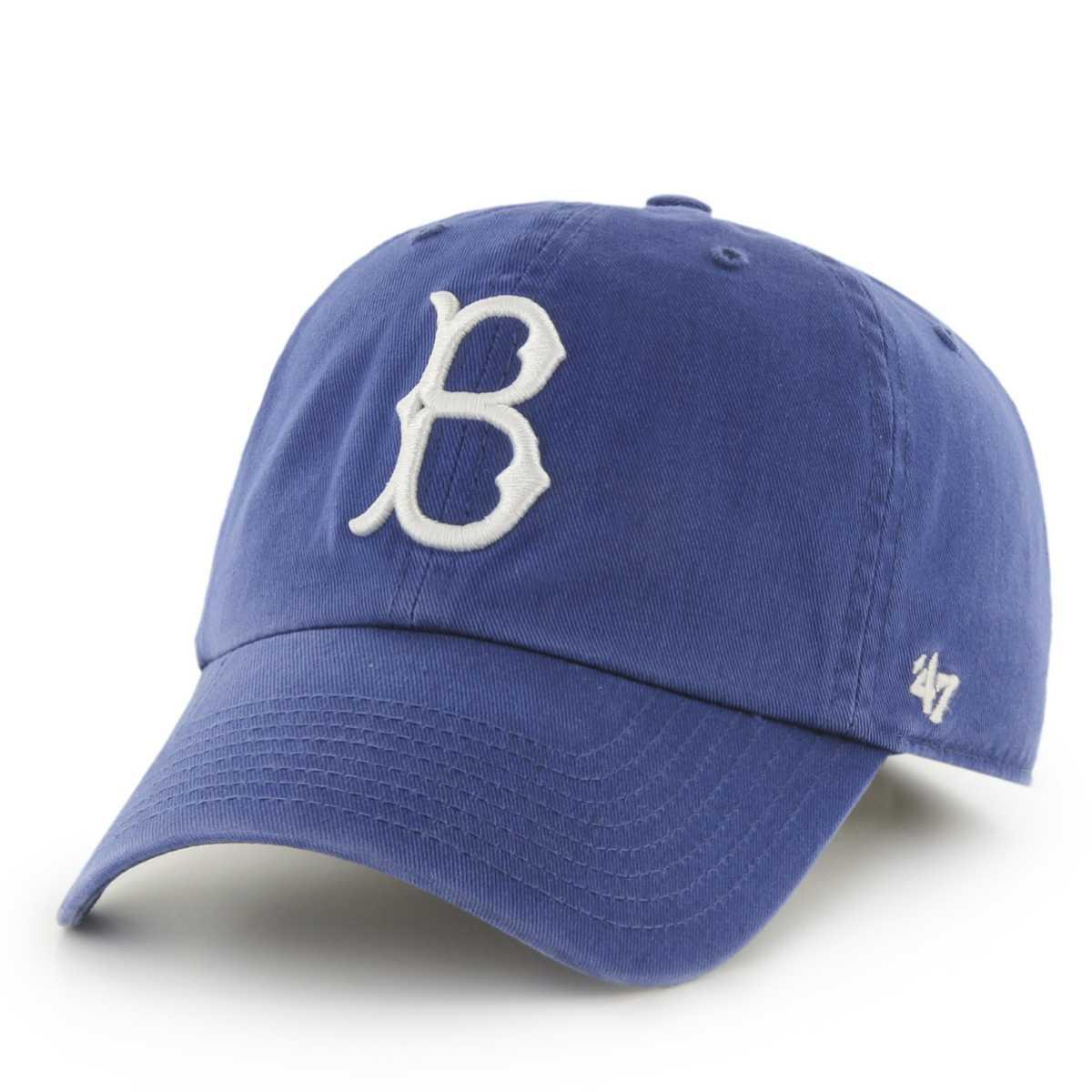 brooklyn dodgers  brand blue clean  slouch adjustable strap hat cap ebay
