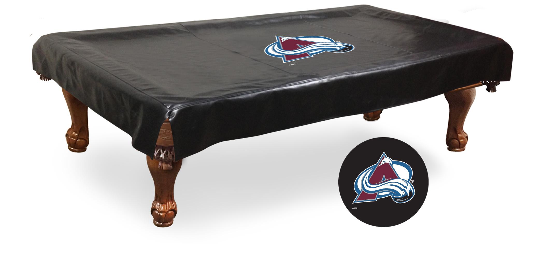 Colorado Avalanche Hbs Black Vinyl Billiard Pool Table Cover Ebay