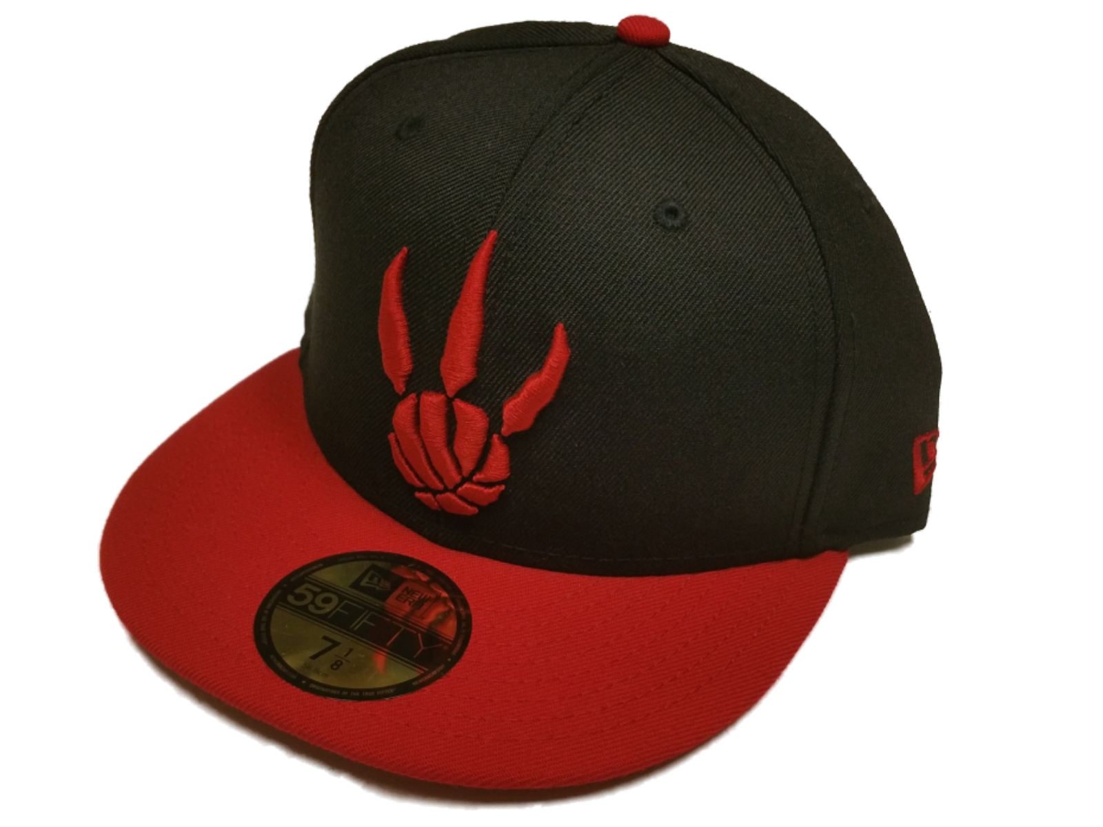 4e493beb2b9 Details about Toronto Raptors New Era 59Fifty Black Red Classic NBA Fitted  Hat Cap (7 1/8)