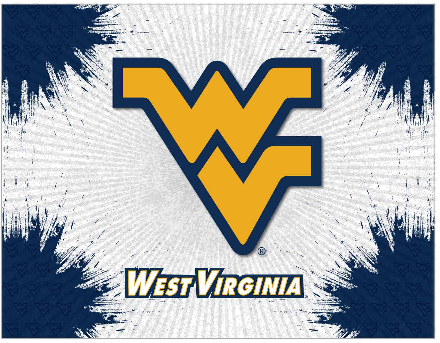 West Virginia Mountaineers HBS Gray Wall Canvas Art Picture Print | eBay