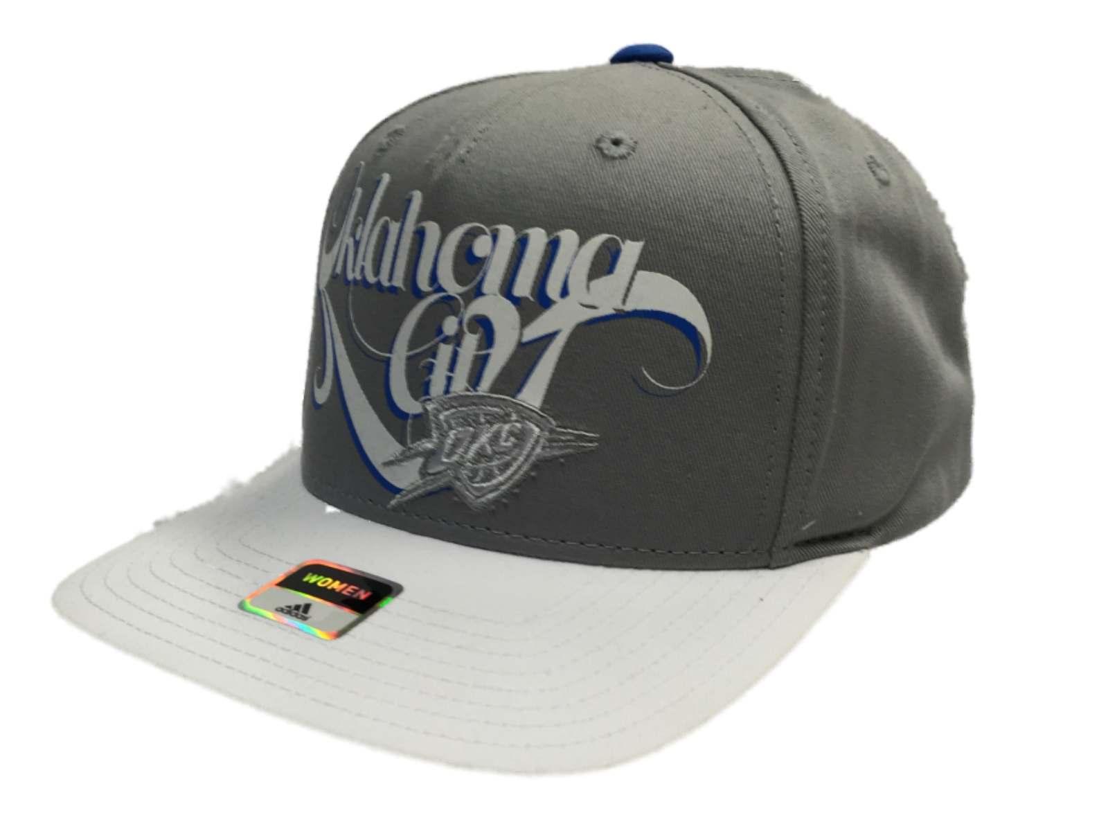 6d361c68bd328 Oklahoma City Thunder Adidas Women Flatbill Gray Adjustable Strap Hat Cap