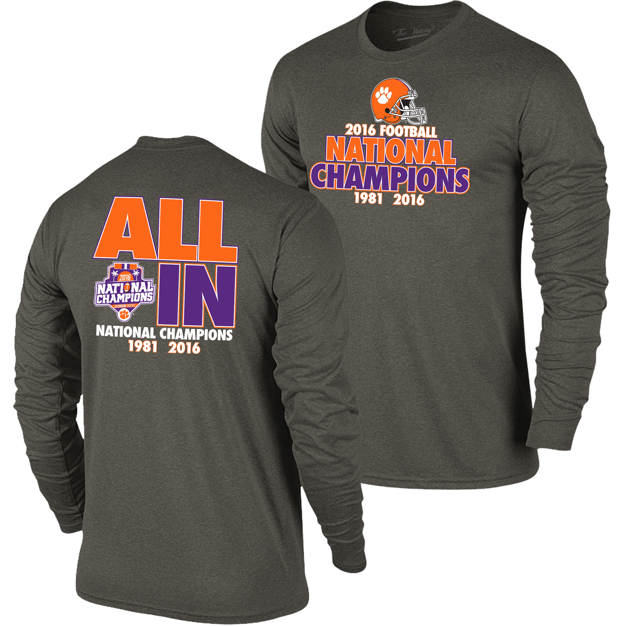 Clemson tigers 2016 college football national champions for National championship t shirts