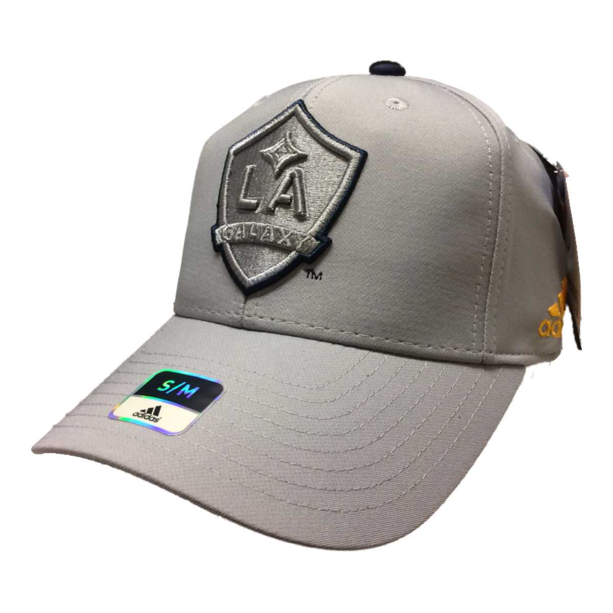 Details about Los Angeles Galaxy Adidas SuperFlex Structured Fitted  Baseball Hat Cap (S M) f7e867b2456