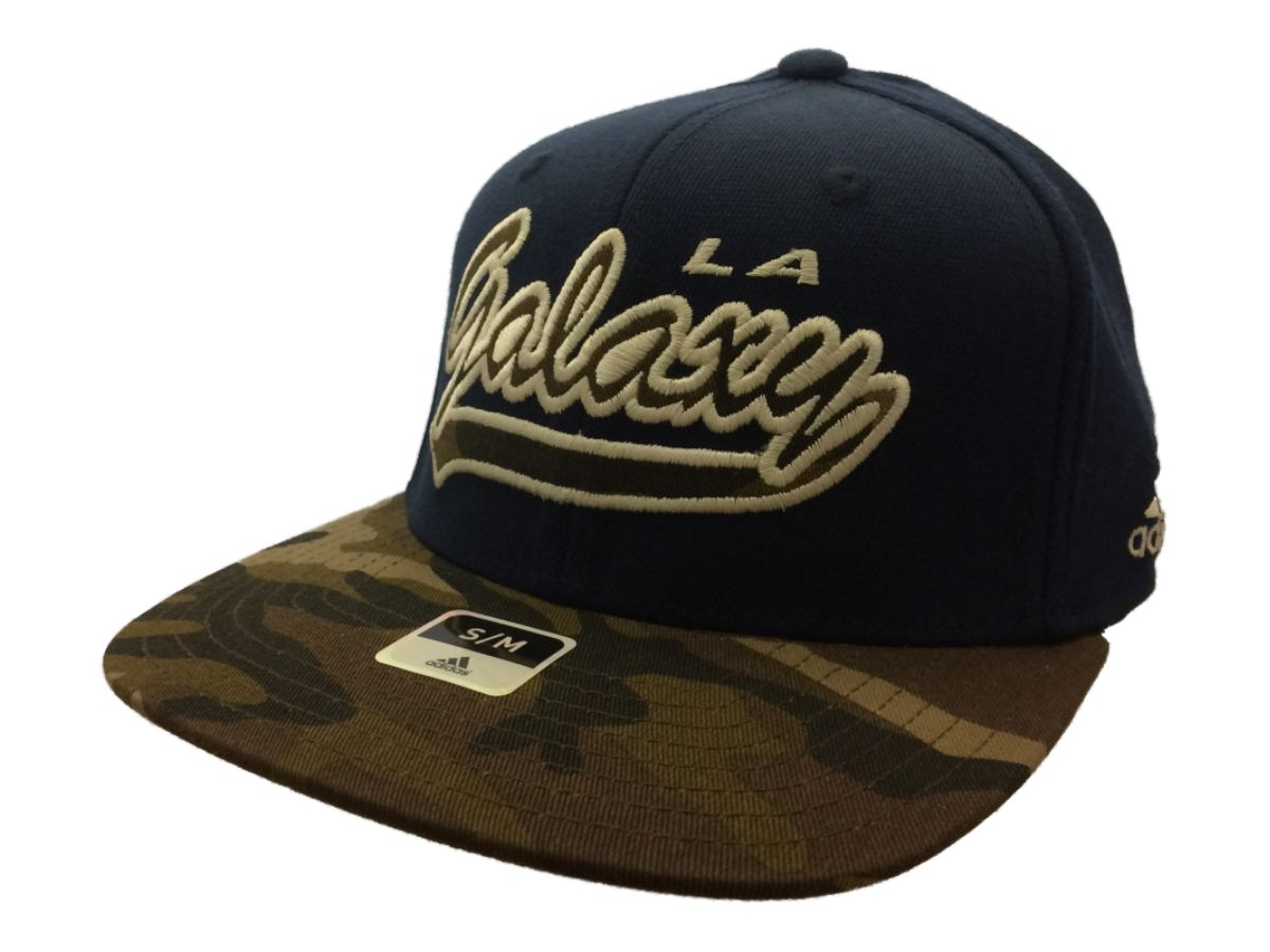 0fbf07becde5f Los Angeles Galaxy Adidas FitMax 70 Navy Camo Structured Flat Bill Hat (S M)
