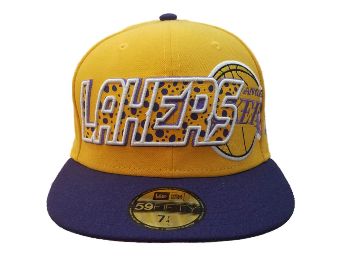 delicate colors sold worldwide united states Los Angeles Lakers New Era Yellow 59FIFTY Structured Flat Bill Hat ...