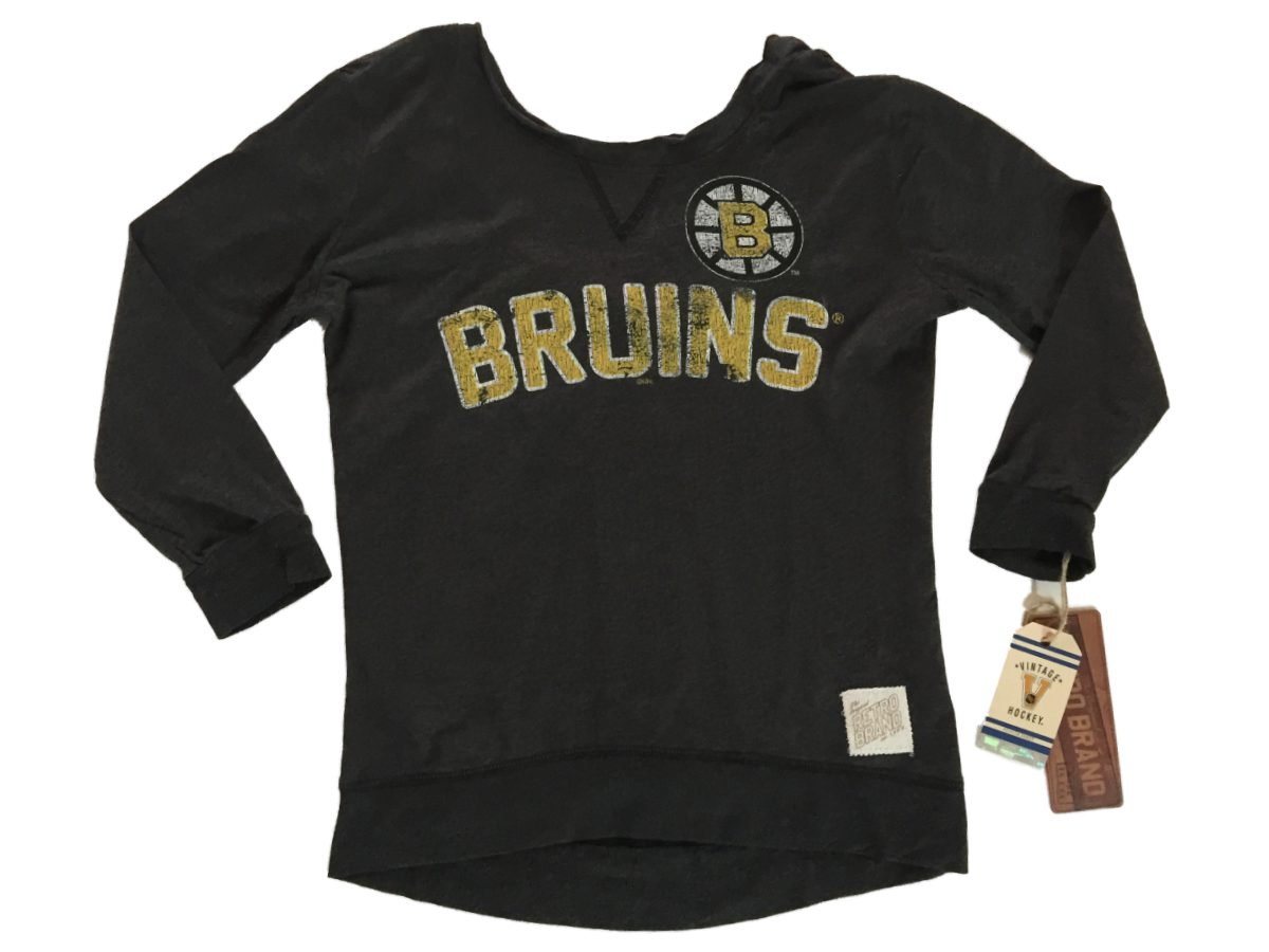 Boston Bruins Hockey Maternity Black Scoop Neck
