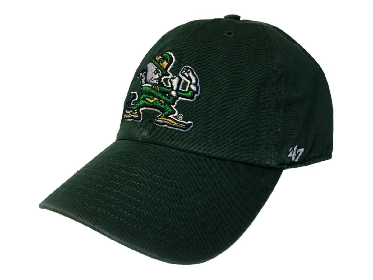 e4ee1434 ... new zealand notre dame fighting irish 47 brand dark green clean up adj.  strap slouch