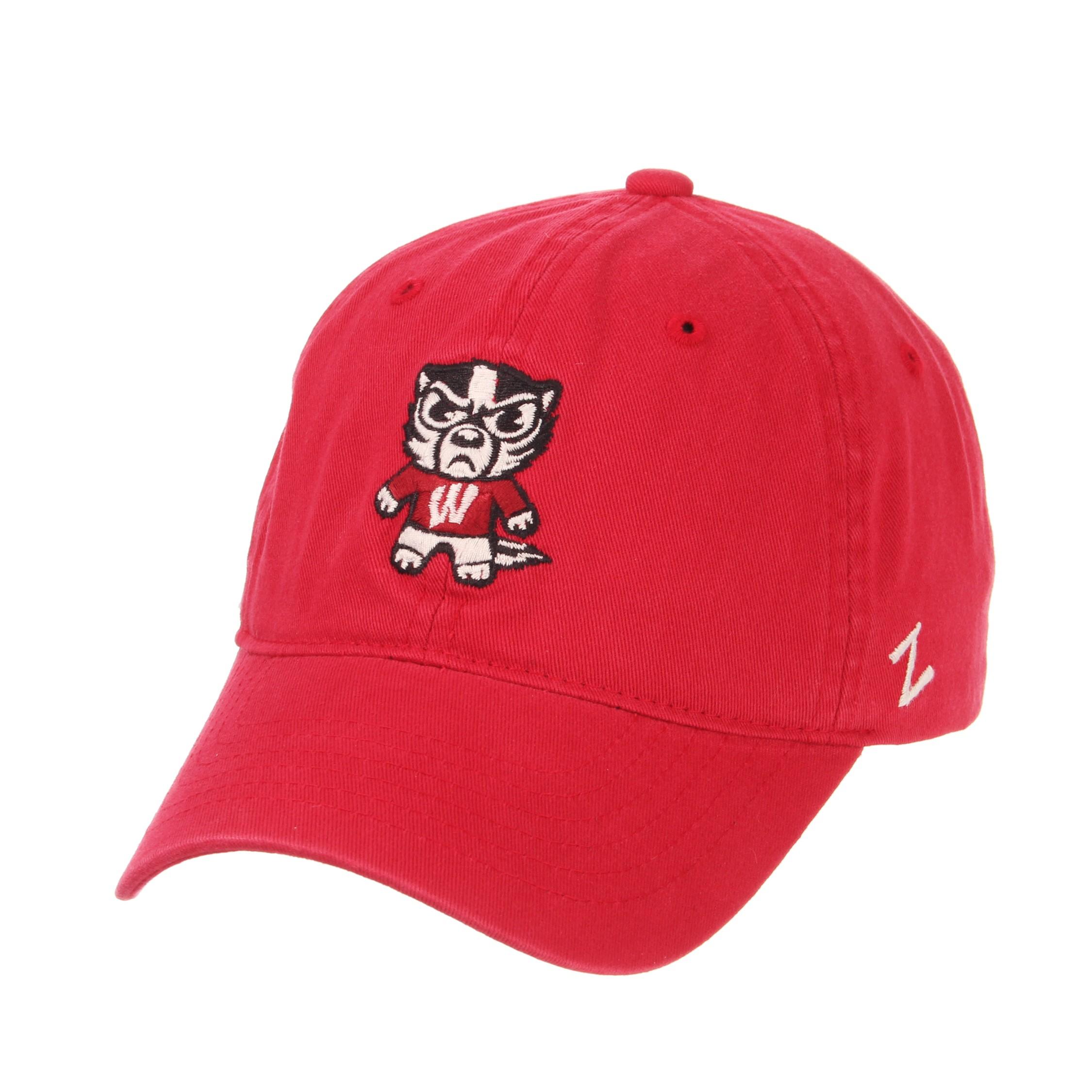 Black Adjustable NCAA Zephyr Wisconsin Badgers Mens Harajuku Snapback Hat