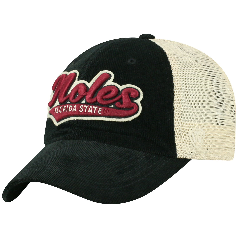 Top of the World NASCAR Mens Script Logo Adjustable Black Hat Adjustable