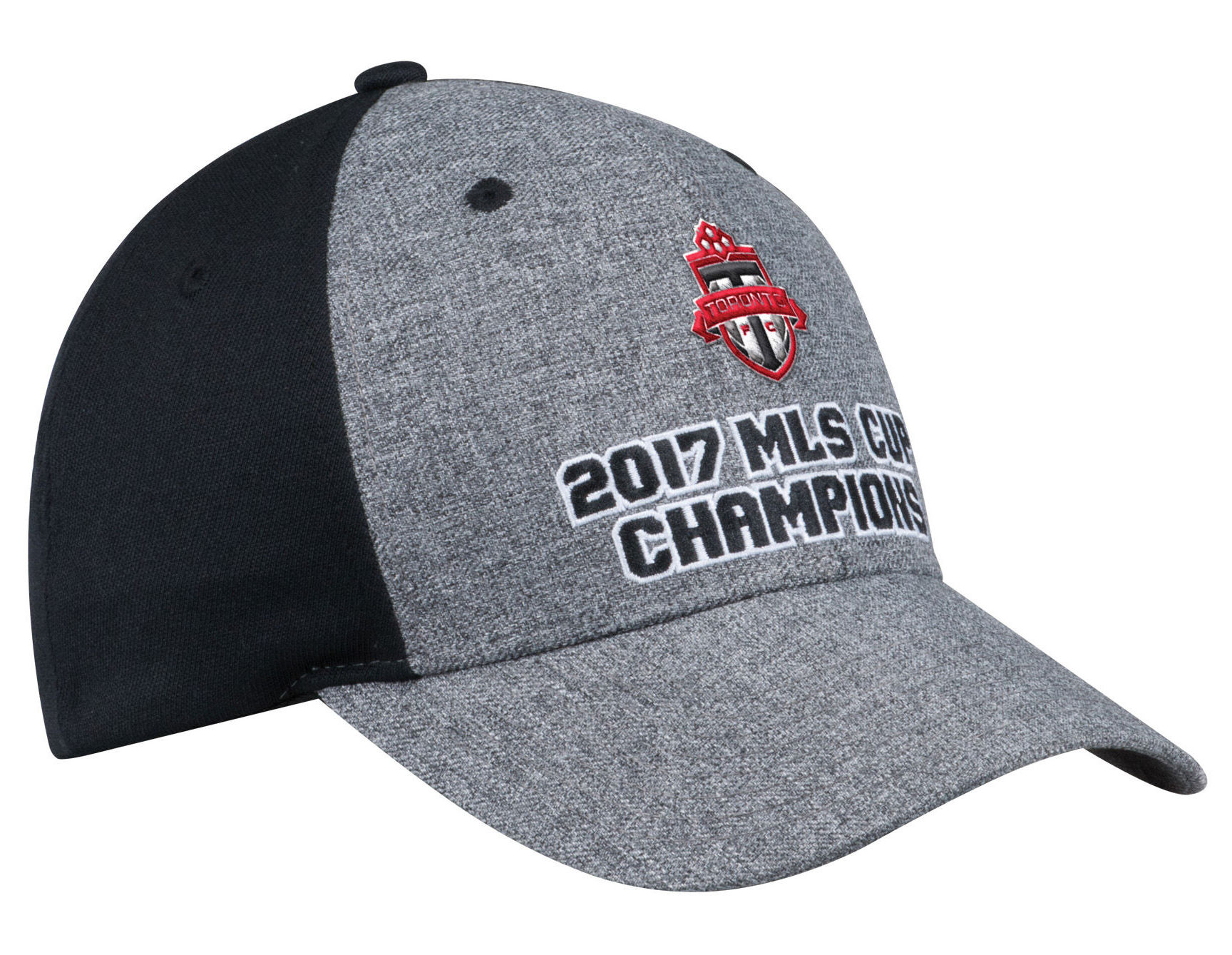 135c16e140c Toronto FC 2017 MLS Cup Champions Adidas Structured Gray Black Snapback Hat  Cap