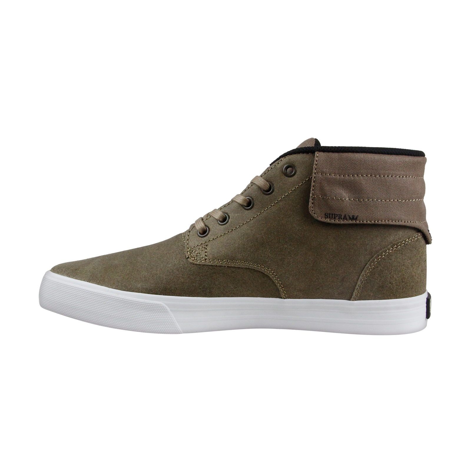 Supra-Passion-Mens-Green-Leather-High-Top-Lace-Up-Sneakers-Shoes