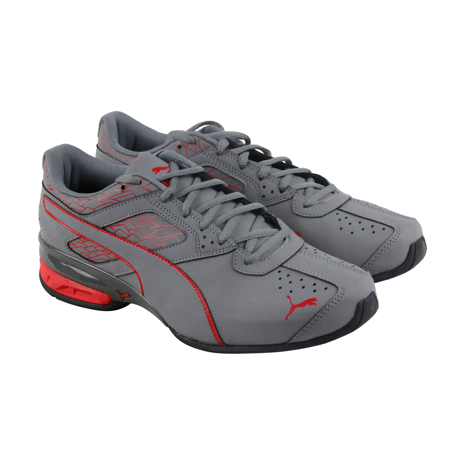 Puma Tazon 6 Fracture Fm Mens Gray Synthetic Bthletic Lace Up Running Shoes