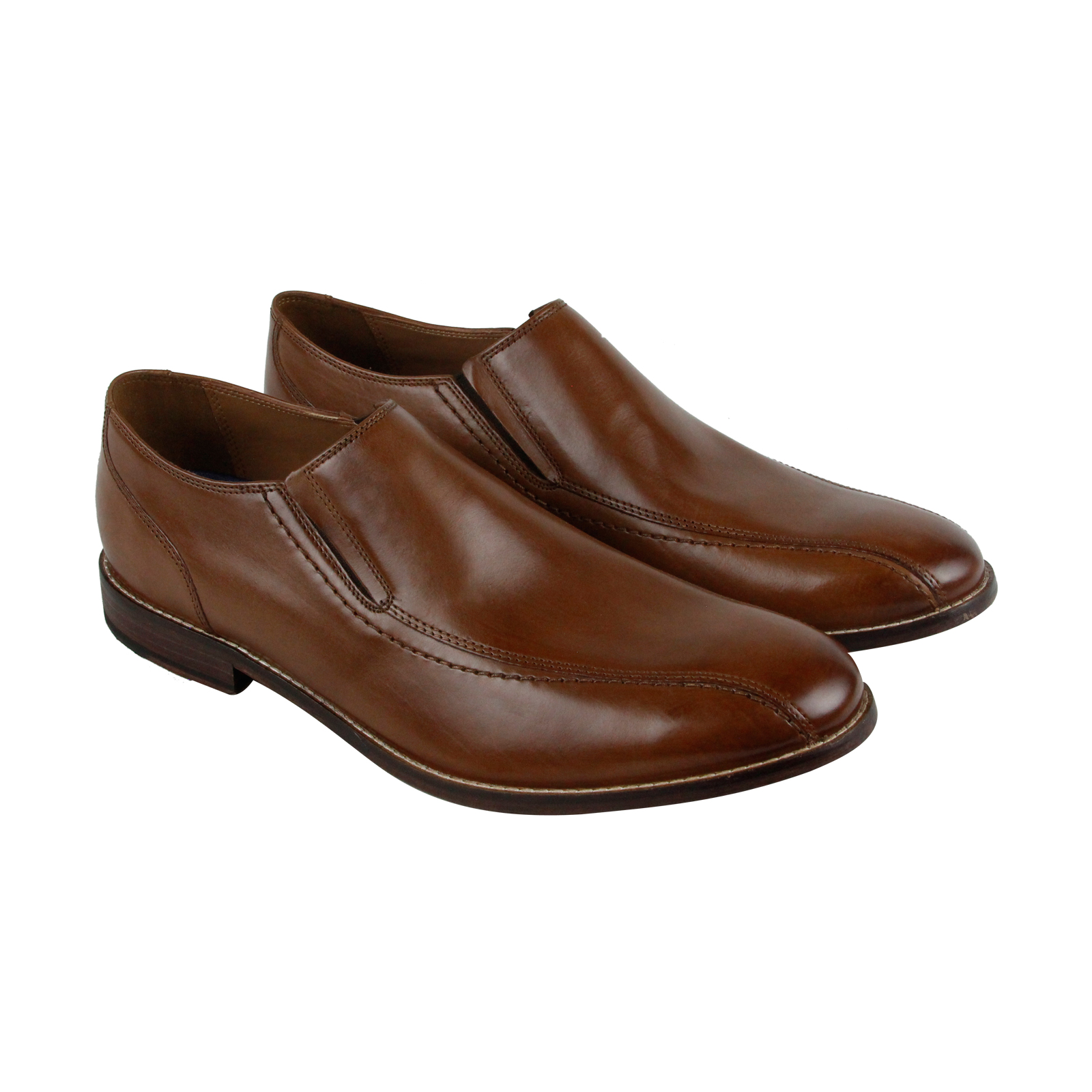 Clarks Ensboro Step Mens Tan Leather Casual Dress Slip On Loafers Shoes