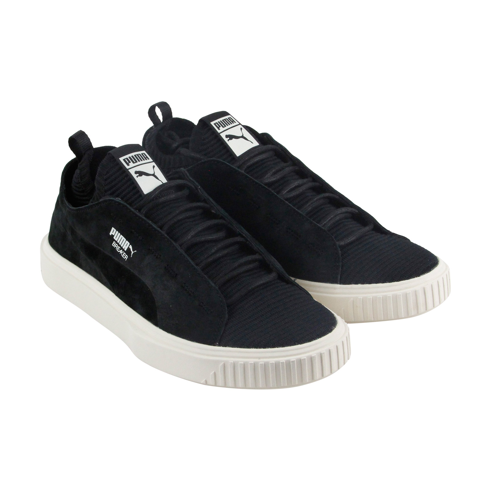 Puma Breaker Suede Knit Sunfaded Mens Black Suede Breaker & Textile Sneakers Shoes 7e2f9c