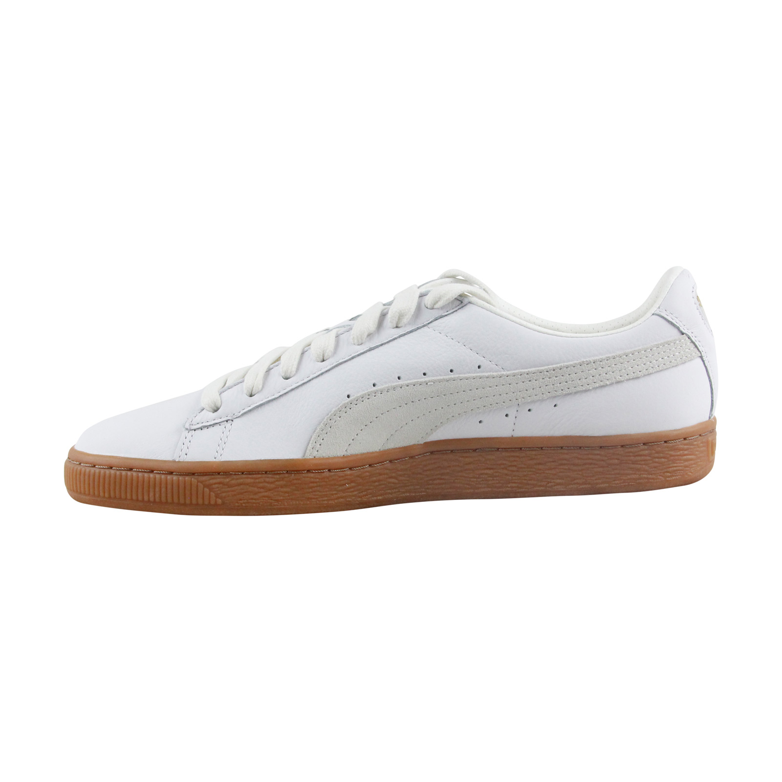 Puma Basket Classic Gum Delux Hombre Blanco Leather Leather Blanco sneakers Zapatos 9b404d