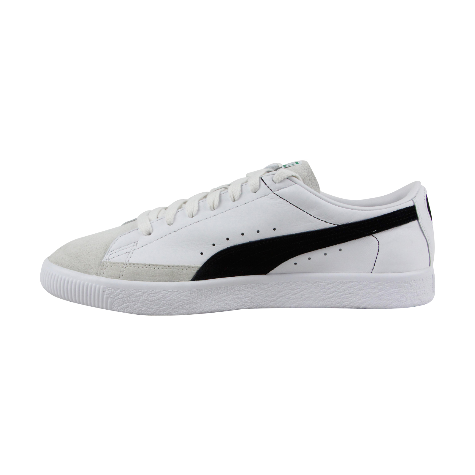 Puma Basket 90680 Hombre Blanco Blanco Hombre Leather Lace Up Sneakers Zapatos 4c8259