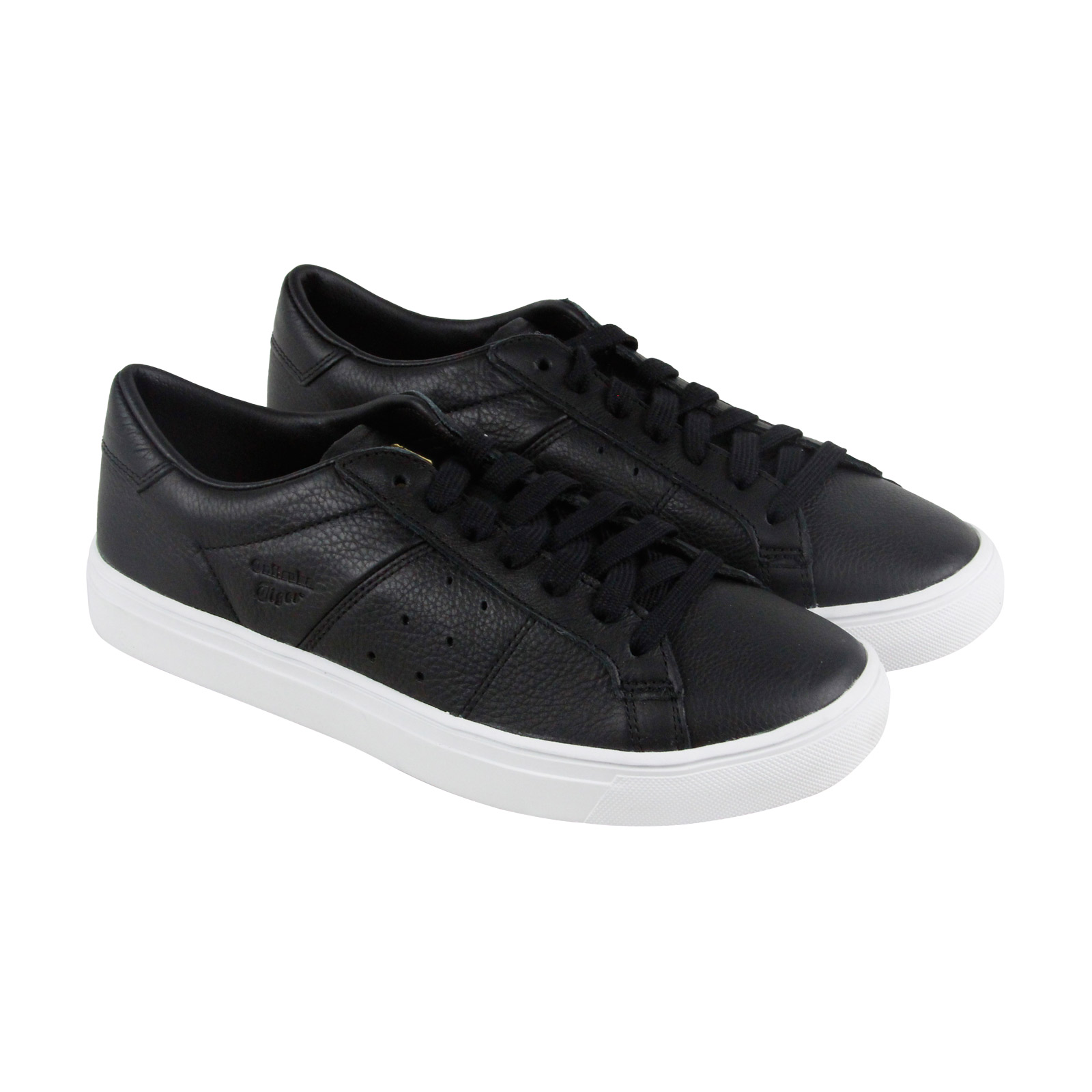 Onitsuka Tiger Lawnship 2.0 Mens Black Leather Lace Up Sneakers Shoes