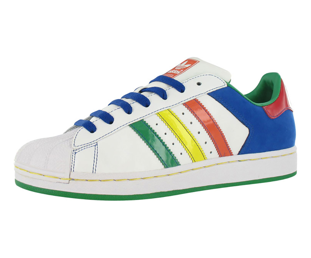 Adidas Superstar Ii Cb Mens Shoes White/multi-