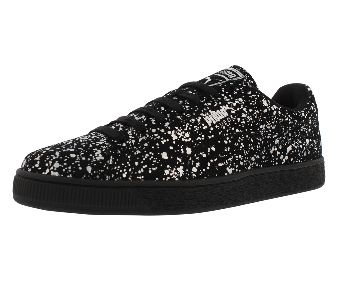 Puma Suede Splatter Metallic Casual Mens Shoe