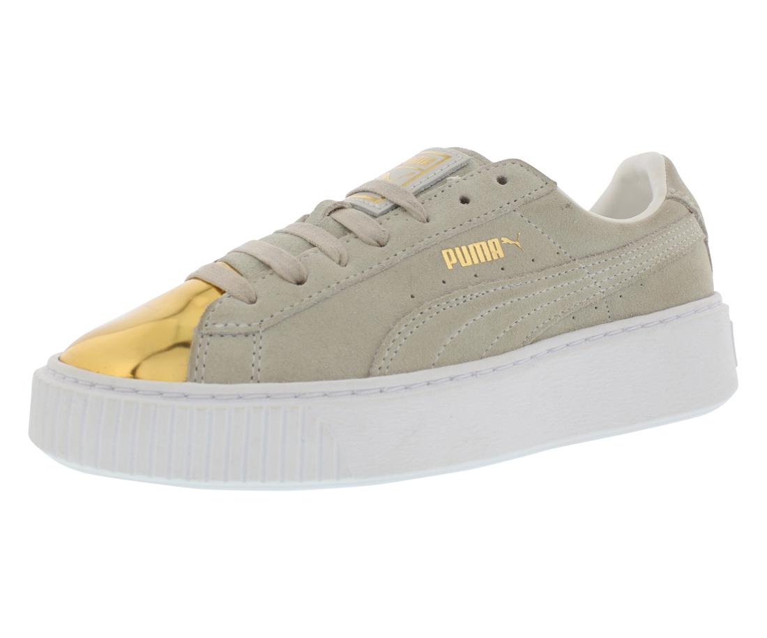 Puma Suede Platform Gold Casual Women's Shoes