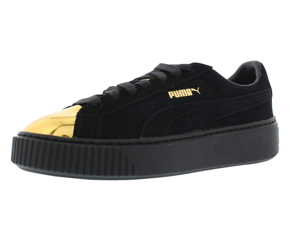 Puma Suede Platform Gold Women's Shoes