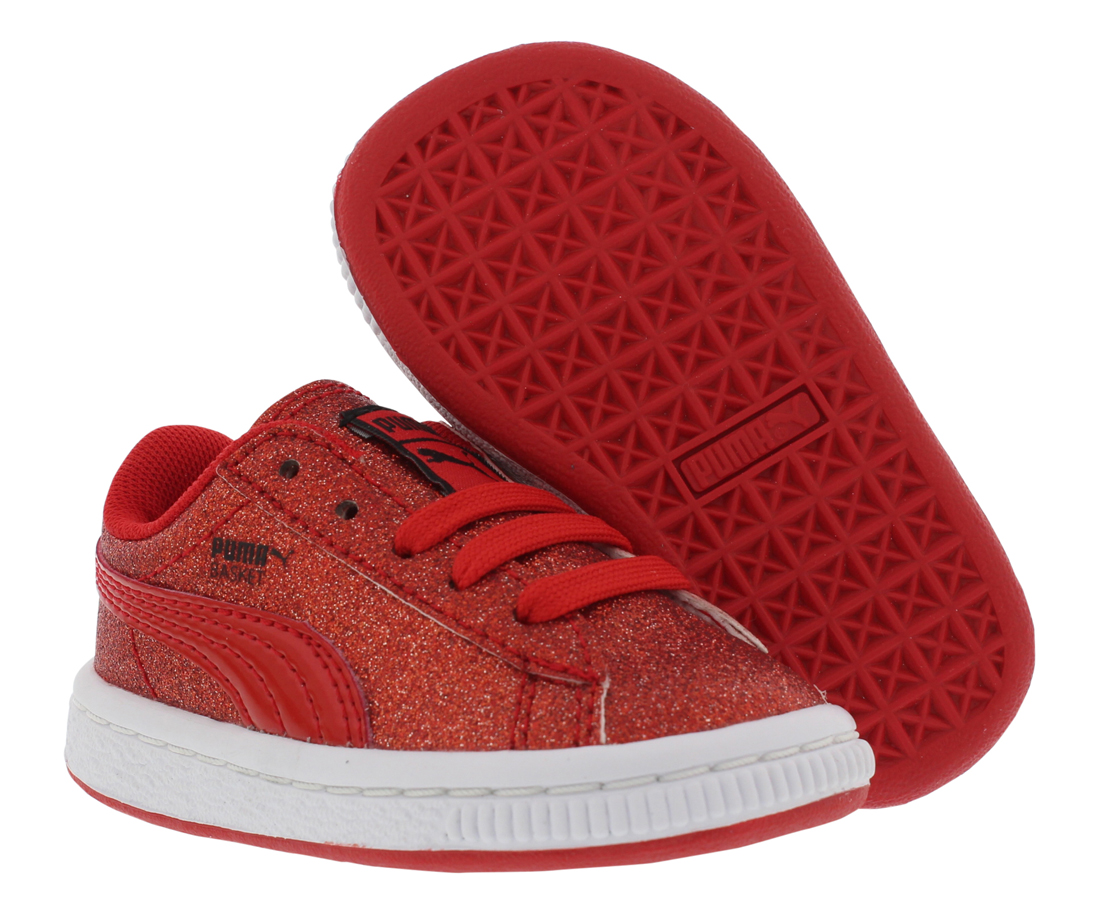 Puma Basket Holiday Glitz Casual Infant's Shoes