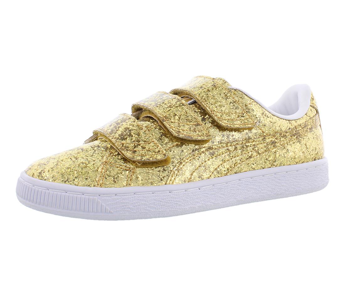 Puma Basket Strap Glitter Womens Shoes